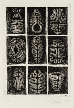 Peter Randall-Page, born 1954, A Place of One's Own, 1994, Etching on paper, 168 x 118 mm, Collection Tate.