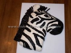 Homemade Zebra Animal Cake
