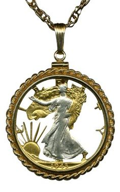 Walking Liberty Half Dollar Necklace