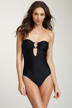 Florence Bandeau One Piece on HauteLook - love this! I need a one piece this year to hide my c section scar and this is a one piece that is still sexy. I love the low back with the bow!