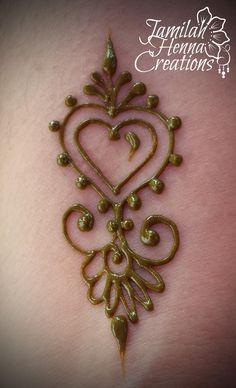 www.jamilahhennacreations.com heart henna mini me
