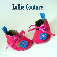 Baby Slippers Baby Booties by lolliecouture on Etsy, $35.00