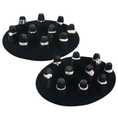 Amazon.com - 10 Ring Finger Display Black Velvet 2Pcs