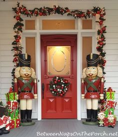 a christmas fantasy home tour - Entryway Christmas Decorations
