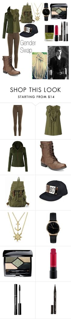 """""""Gender Swap (Peter Pan)"""" by erin-1604 ❤ liked on Polyvore featuring Once Upon a Time, rag & bone, Miss Selfridge, LE3NO, American Rag Cie, Bling Jewelry, Freedom To Exist, Christian Dior, MAC Cosmetics and Smith & Cult"""