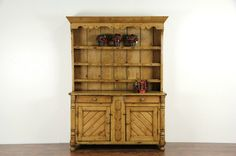 Country Pine 1860's Irish Hutch or Pewter Cupboard | eBay