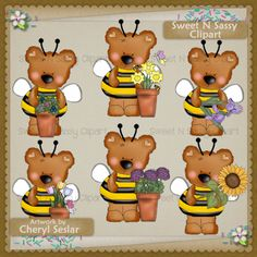 Bitsy Bumble Bears Spring Blooms