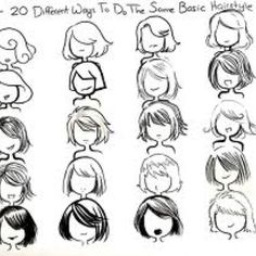 Hair and face drawing