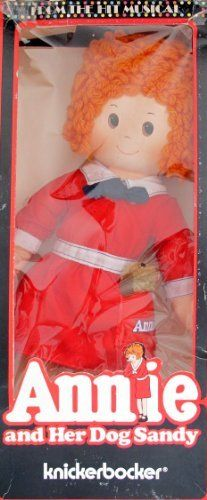 """Little Orphan ANNIE DOLL 16"""" Tall & SANDY From The Hit Musical Annie & Her Dog Sandy (1977 Knickerbocker) by Knickerbocker Toy, Tribune, made in Taiwan. $99.95. For Ages 3+ Years. All the provided details are to the best of my ability & may not be exact; colors, styles, sizes & details may vary.. From The Hit Musical Annie and Her Dog Sandy Knickerbocker is a 1977 Tribune, Knickerbocker production, made in Taiwan.. Little Orphan Annie Rag Doll is approx. 16"""" tall & wea..."""