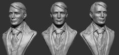 http://intervain.blogspot.ca | a sketch of Doctor Lecter... well at least I hope you can tell. His face was very difficult to sculpt, I found...