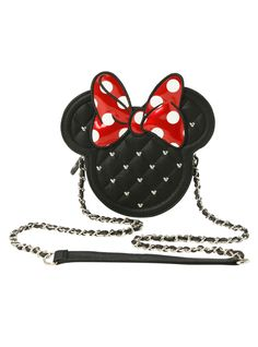 Loungefly Disney Quilted Minnie Mouse Crossbody Bag | Hot Topic