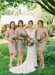 #metallic  Photography: Lexia Frank Photography - www.lexiafrank.com  Read More: http://www.stylemepretty.com/2014/08/12/charming-springtime-garden-wedding/