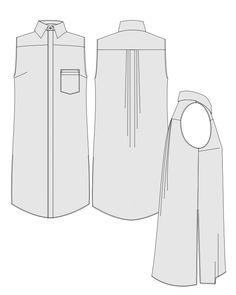 Orageuse - robe ou chemise Rome - patron PDF : 8,50€