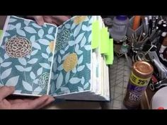 CraftyIrina - Altered Book TUTORIAL; time 11:11; July 7, 2016  NTS: she has an interesting way of pulling and sewing the pages together inside the original covers and binding