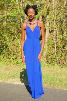 She's totally gorgeous and I love this royal blue