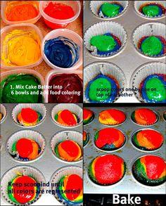Bits of Splendor: St. Patricks Day Rainbow Cupcakes