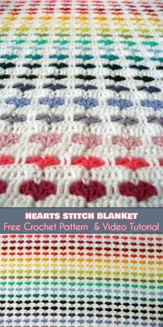 Heart Stitch and Blanket [Free Crochet Pattern and Video Tutorial]