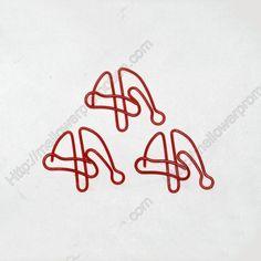 Shaped Paper Clips | Christmas Hat | Christmas Ornaments (1 dozen/lot,36*28 mm)