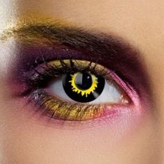 black wolf halloween coloured contact lenses daily