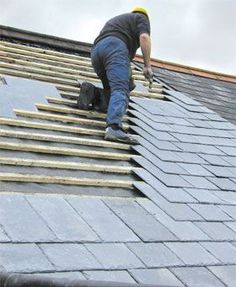 Roofing tiles - Grantham - Newlink Roofing Company - Slate roof