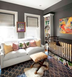 loving the bold colors and mix of styles in these rooms for little ones ... ideas that could translate into rooms for us big kids too.