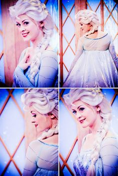 Elsa.  Everything about her face character is gorgeous, even if her dress has some inaccurate parts.