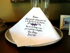 Father of the Groom Handkerchief  Hanky  Hankie   by MisterandMrs, $22.95