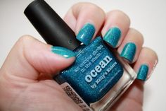 ♆ Ocean by Picture Polish by diamant sur l'ongle