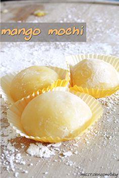 Mango Mochi {recipe}. I never knew mochi was so easy to make!
