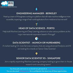 🎉check out these hot jobs - LINK IN BIO 🎉 #bigdata#datascience#machinelearning#deeplearning #engineering#softwareengineer#computervision#computerscience#computersciencestudent#computersciencemajor#datascientist#artificialintelligence#naturallanguageprocessing #nlp#virtualreality#augmentedreality #startup#business#careers #applynow#marketing#recruitment #bigcloud #jobs#infographic