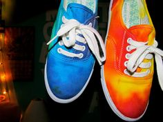 tie dye shoes!