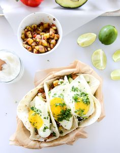 Chorizo and Fried Egg Breakfast Tacos. @FoodBlogs