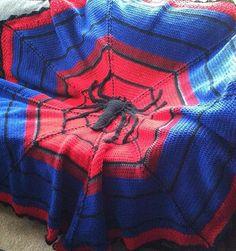 Spiderman Crochet Blanket - Visit to grab an amazing super hero shirt now on sale!