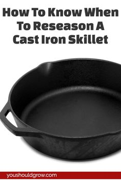 Cast iron cooking: Is your skillet looking dull and getting food stuck when you cook in it? Find out the most important steps to reseasoning cast iron. Lodge Cast Iron, Cast Iron Pot, Cast Iron Dutch Oven, Cast Iron Cookware, It Cast, Season Cast Iron Skillet, Cast Iron Skillet Cooking, Iron Skillet Recipes, Cast Iron Recipes
