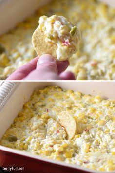 This cheesy corn dip