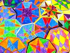 Art Lessons For Kids geometric designs - more family fun math night