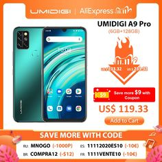 "UMIDIGI A9 Pro 32/48MP Quad Camera 24MP Selfie Camera 6GB 128GB Helio P60 Octa Core 6.3"" FHD+ Global Version Cellphone #Mobile_Phones #Phone_Gadgets #New_Phones #Best_Mobile_Phone #Mobiles #Phone_Shops #Cell_Phone_Prices #Smartphones_For_Sale #Mobile_Gadgets"