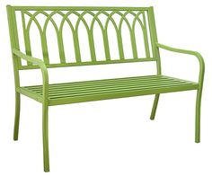 Gothic Steel Bench - Lime Green - I LOVE this! It also comes in turquoise.