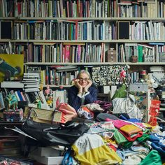 During a recent visit to London, longtime collaborator and British designer Paul Smith invited the Maharam Design Studio on a tour of the eclectic office where he finds endless sources of inspiration. Photography by Nick Ballon. #MaharamTextiles #TextileDesign #DesignProcess #Color #Stripes #MaharamCollaborator