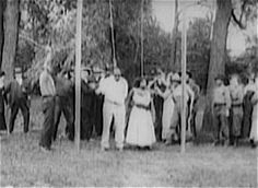 The lynching of Jasper Landry (William Stark) and his wife (Mattie Edwards) from 1919