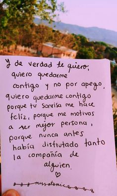 Amor Quotes, Words Quotes, Couple Quotes, Quotes For Him, Sad Love, Cute Love, Cute Spanish Quotes, Cute Boyfriend Gifts, Frases Love