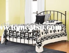 black+wrought+iron+bedroom | Classical wooden hand carving bedroom furniture, black clokr, king ...