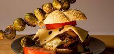 Pulled Pork Sandwich & Brussel Sprouts skewer