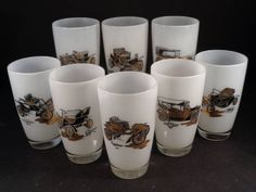 Barware Collection - GAY FAD - ANTIQUE AUTOMOBILE - HIGHBALL GLASSES