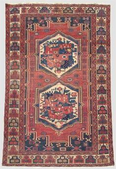 Bakhtiari rug   west persia, circa early 20th century   7 ft. 2 in. x 4 ft. 4 in. - FREEMAN'S