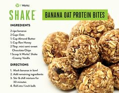 Shake in creamy vanilla is for making these easy protein bites. Healthy Protein Snacks, Protein Bites, Protein Foods, Healthy Recipes, Healthy Foods, Healthy Eating, Healthy Life, Keto Recipes, Ketogenic Recipes