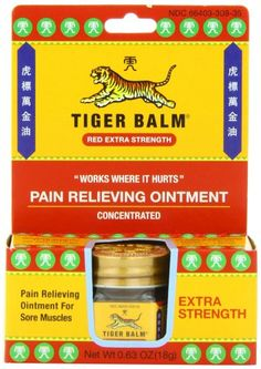 Tiger Balm Pain Relieving Ointment, Extra Strength, 0.63 Ounce Tiger Balm,http://www.amazon.com/dp/B00028PG0O/ref=cm_sw_r_pi_dp_zoJbtb0G2BB67X9K