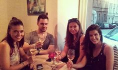 Nice wine with nice people always come together #rosé #brut #prague #afterwork