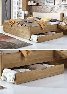 Stauraumbett 140x200 massivholz  Bett
