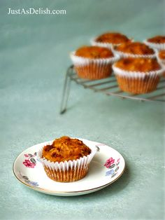 Carrot Okara Muffin (By Product of Homemade Soy Milk) | JustAsDelish.com